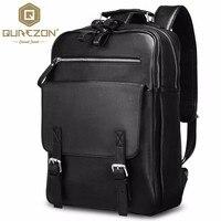 1 Multifunctional Popular 2017 High Quality Genuine Leather Large Backpack Men Laptop Bag Daypack black business ipad travel bag