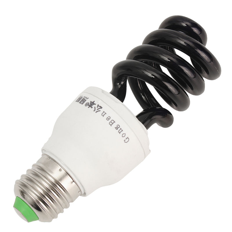 e27 18w uv light bulb ultraviolet blacklight bulb sprial fluorescent cfl energy saving light moth - Black Light Bulbs