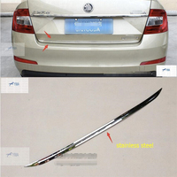 Lapetus Car Styling Rear Trunk Cover Tailgate Trim Door Handle Molding Boot Garnish Bezel For Skoda Octavia MK3 A7 2015 2017