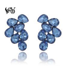 VEYO Elegant Stud Earrings Fashion Jewelry Crystal Earrings for Women Wholesale