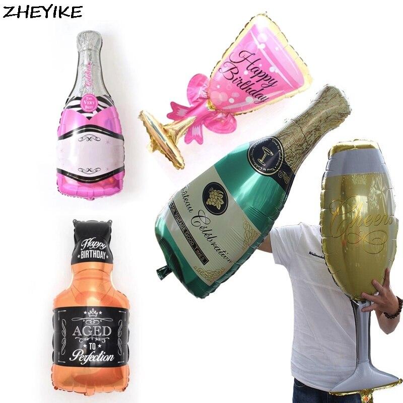 Wine Bottle Champagne Bottle Glass Foil Balloons Birthday Wedding Decor  RAC