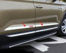 4pc for SKODA KODIAQ Door trim strip Body bright strip Stainless steel decoration for skoda kodiaq 2017 2018 stainless steel side car door body strip streamer plate cover trim 4 pcs set