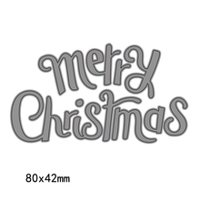 Merry Christmas English Words Cutting Dies Letter Template Stencil  for DIY Handmake Scrapbook 2018 New
