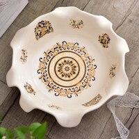 Высококачественная керамическая Фруктовая тарелка, сухой фруктовый чайный столик, украшение для гостиной, корзина для домашнего интерьера