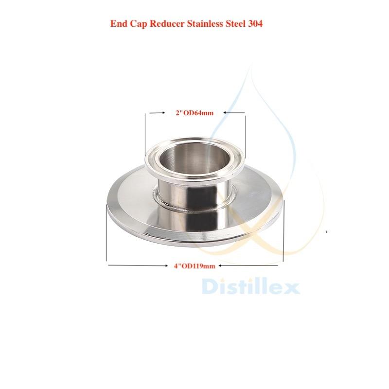 Effizient 2 od64mm X 4 Od119mm Endkappe Höhe 25mm Perfekte Verarbeitung Kurze Tri-clamp Minderer Sanitär Stahl 304