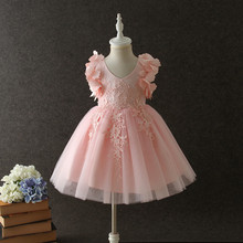 hot deal buy baby girls costume dresses flower girl dresses for party and wedding princess dresses for girls baby party dresses cotton 1-12y