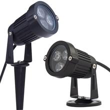 Уличный светодиодный COB лужайка лампа 1 Вт 3 Вт 5 Вт 10 Вт светодиодный садовый ландшафтный светильник AC85-265V 12 В водонепроницаемый светильник ing светильник садовая дорожка Точечный светильник s