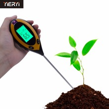 New 4 IN 1 Digital PH Meter Soil Moisture Monitor Temperature Sunlight Tester For Gardening Plants Farming With LCD Displayer