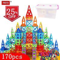 144 170pcs Magical Magnet Blocks Magnetic Designer Construction Set Model & Building Toy Plastic Magnetic Toys For Kids Gift