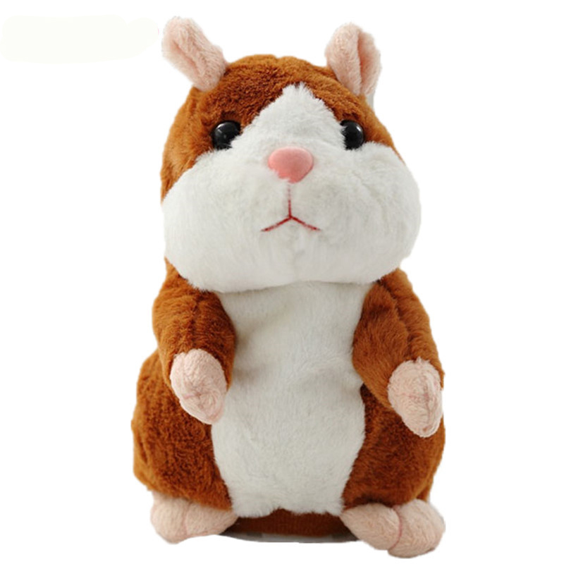 2017 Talking Hamster Mouse Pet Plush Toy Hot Cute Sound Record Hamster Educational Toy for Kids Gift