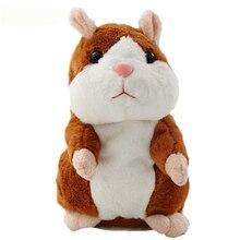 2017 Lidhur me Toy Hamster Mouse Pet Plush Toy Cute Cute Sound Record Hamster Lodër edukative për dhurata për fëmijë