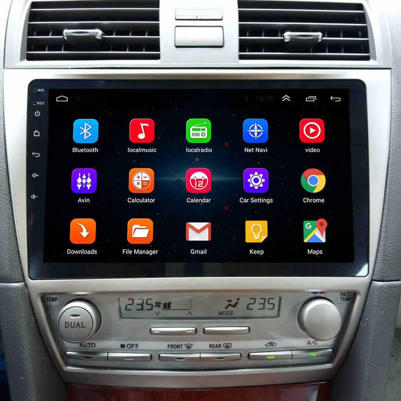 """LEEWA 10.2 """"większy ekran hd z systemem Android 8.1 czterordzeniowy samochodowy odtwarzacz multimedialny z GPS radio nawigacja dla Toyota Camry XV40/Daihatsu Altis"""
