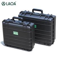 Caja de Herramientas LAOA maleta Caja de Herramientas caja de archivos resistente a impactos caja de seguridad equipo de cámara con forro de espuma precortado