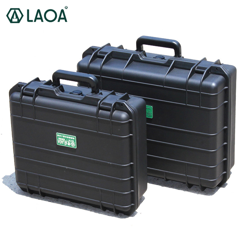 LAOA Tool Case Suitcase Toolbox File Box Impact Resistant Safety Case Equipment Camera Case with Pre-cut Foam Lining tool case gun suitcase box long toolkit equipment box shockproof equipment protection carrying case waterproof with pre cut foam