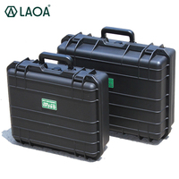 LAOA Tool Case Suitcase Toolbox File Box Impact Resistant Safety Case Equipment Camera Case with Pre cut Foam Lining