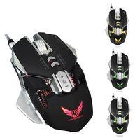 P 4000 DPI Gaming Maus X300 USB Optische Mechanische Beruf Elektronische Sport Mit 7 Taste LED Verdrahtete Mäusemäuse Für Gamer