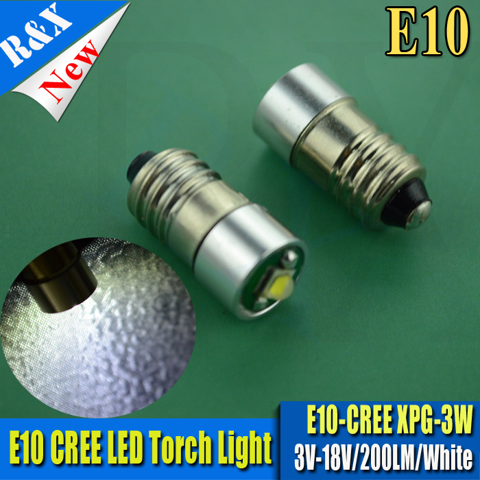 4X LED 3V 5V 6V 12V 18V CRE E10 3W White warm white BULB GLOBE for FLASHLIGHT TORCH HEAD LAMP CAR DASHBOAD BOAT BICYCLE White