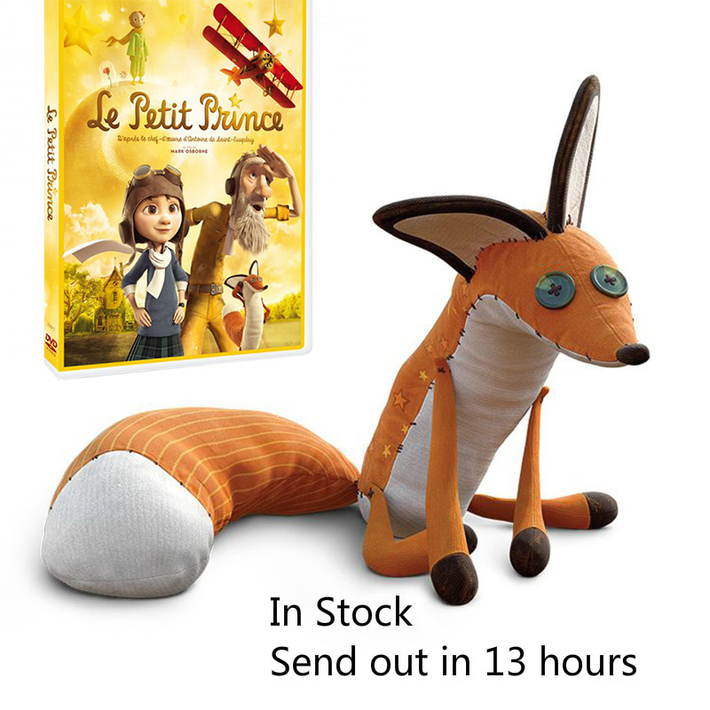 16inch/24inch Movie Le Petit Prince The Little Prince Fox Plush Doll Stuffed Toys education toy for baby