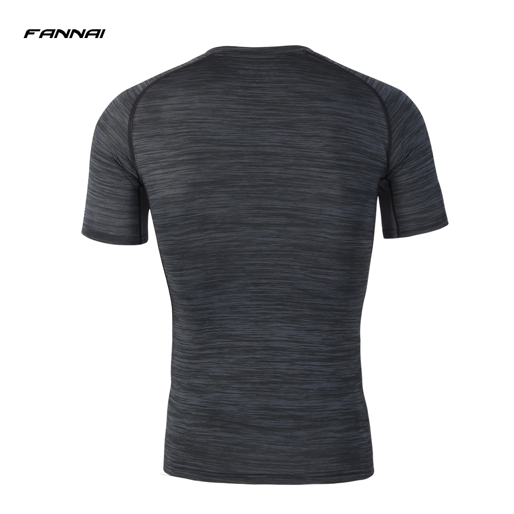 Men 39 s Cool Dry Compression Running shirt Short Sleeve T Shirts Quick drying Breathable Tight T shirt Bastetball Top 2019 New 5XL in Running T Shirts from Sports amp Entertainment