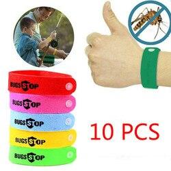 Открытый нетоксичный москитный браслет от Комаров Репеллент Браслет Уход за ребенком (Цвет: многоцветный) 10 шт