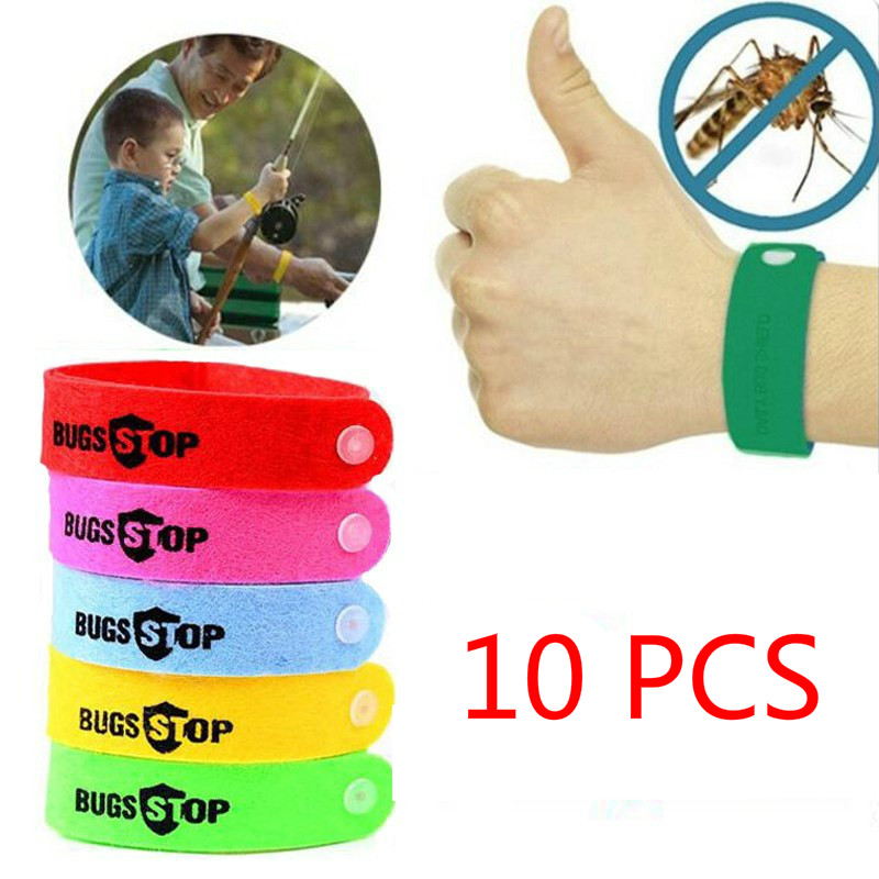10pcs/set Kids Outdoor Toys Non-toxic Mosquito Pest Bracelet Anti Mosquito Insect Protect Care Toys for Baby