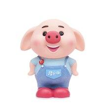 Cute Lucky Stand Piggy Money Box for Children Cartoon Coins Pig Saving Safe Deposit ATM Machine Birthday Gift Kids toy