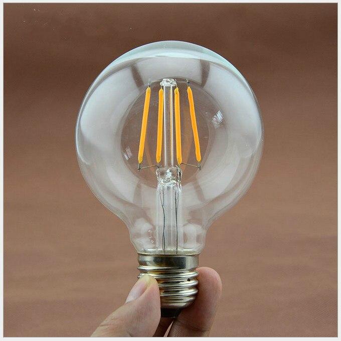 Lampade A Led 220v.Us 6 29 Led Bulb Replace Incandescent Bulb For Home Lampade E27 4w 6w 8w G80 Filament Led Bulb Chandelier Pendant Lights Ac110v 220v In Led Bulbs