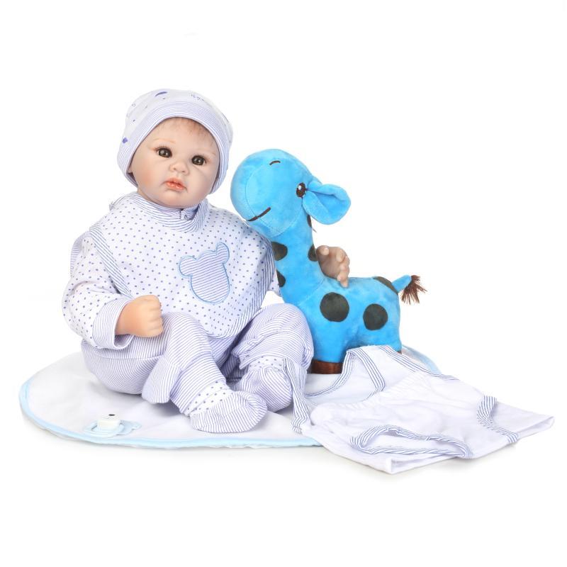 NPK 50 cm gros yeux réaliste bebe Reborn Bonacas souple Silicone vinyle Reborn bébés poupée jouet vivant bébé poupée enfants cadeaux d'anniversaire