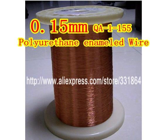 Le fil de cuivre émaillé par polyuréthane a émaillé la réparation 0,15 * 500m / pcs QA-1-155