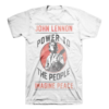 John Lennon Power To The People T Shirt New 2018 Hot Summer Casual T Shirt Printing