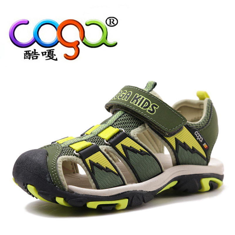 COGA 2017 New Boys Sandals Children Sandals Closed Toe Sandals for Little and Big Sport Kids Summer Shoes Eur Size 24-40