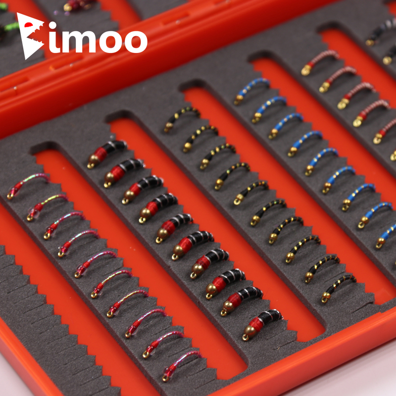 Bimoo 120pcs Combination Beadhead Nymph Fly Trout Fishing Flies John Wood is Two Cent Caddis Bluegill
