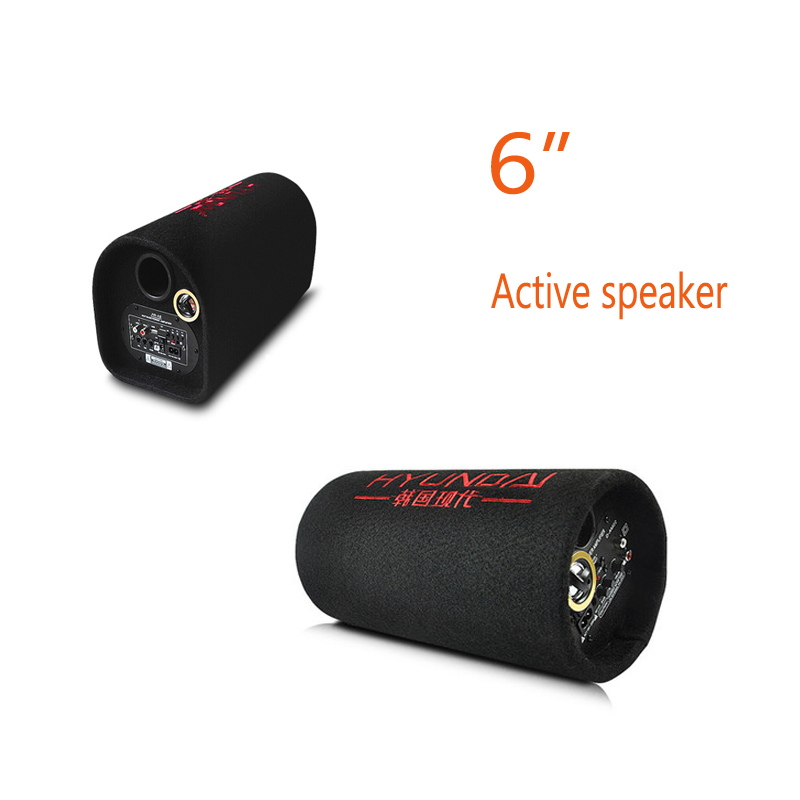 New arrival 6 inch 12v 220v car audio hifi portable active tunnel speakers KTV boom box