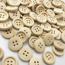 10/50/100 шт. 18 мм круглые деревянные кнопки с 4 отверстиями; Прошитые вручную аксессуары WB28