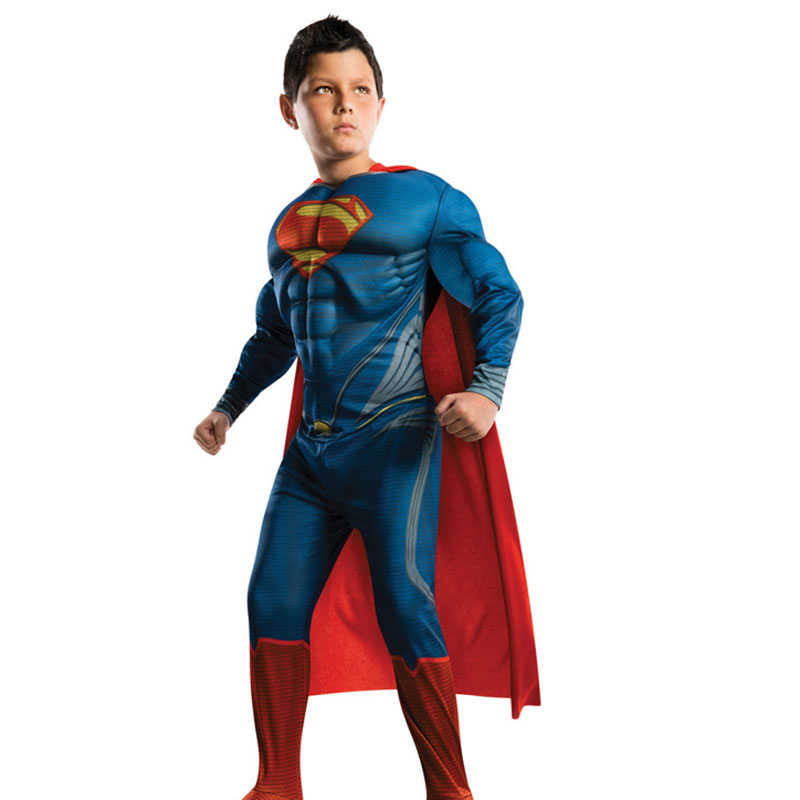 Franco Ragazzi Muscle Superman Bambini Costume Da Supereroe Del Partito Di Cosplay Del Vestito Di Carnevale Costumi Di Halloween Gioco Di Ruolo Di Fantasia Del Vestito Della Tuta Essere Altamente Elogiati E Apprezzati Dal Pubblico Che Consuma