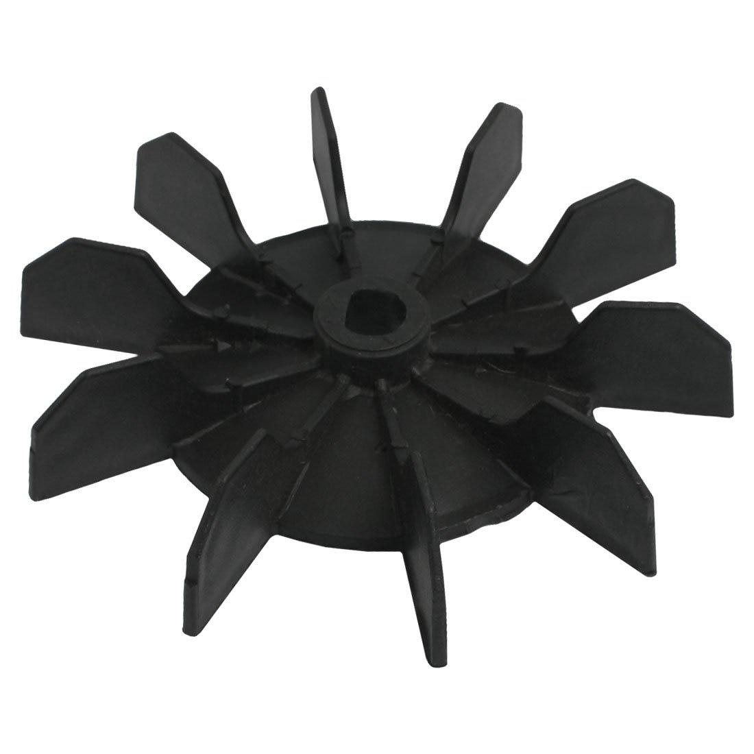 Replacement Air Compressor Part 12mm Inner Dia 10 Impeller Air Compressor Motor Fan Blade Black
