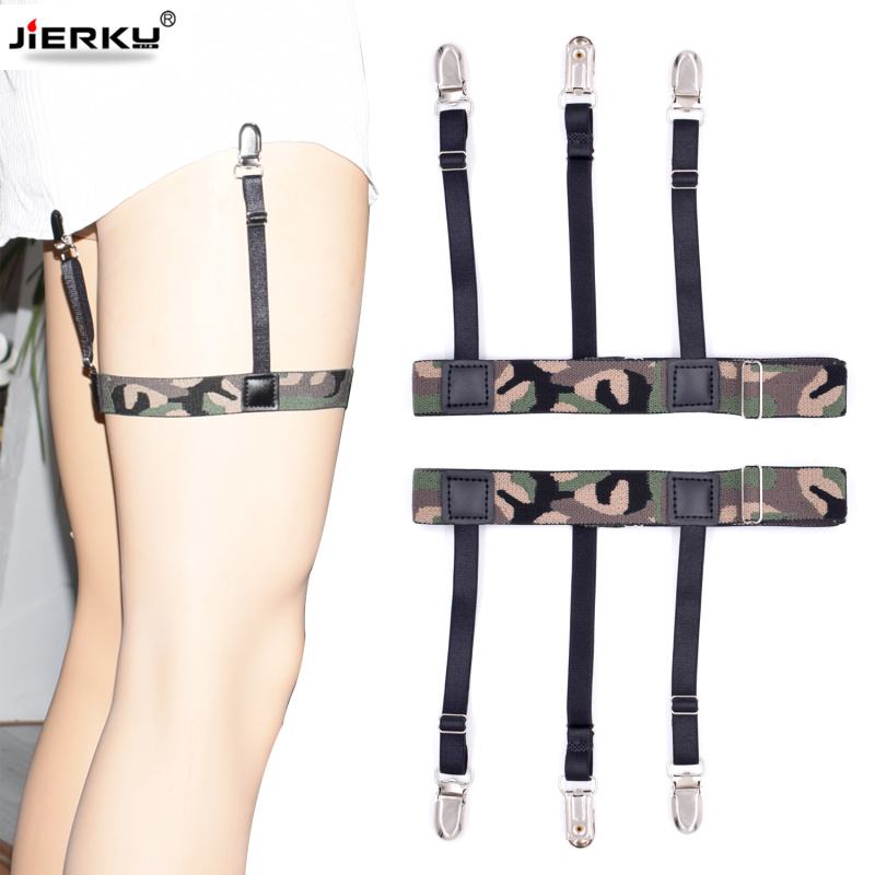 Camouflage Garter Shirt Stays Holder Man's Leg Suspenders Fashion Shirt Braces Shirt Suspenders Garter Holder Business 1pair