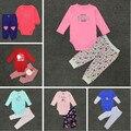Carter Baby Girl Roupas de Algodão Bodysuit & Pants Set Roupa Do Bebê Recém-nascido Set Meninas Conjuntos de Roupas 3-24 Meses