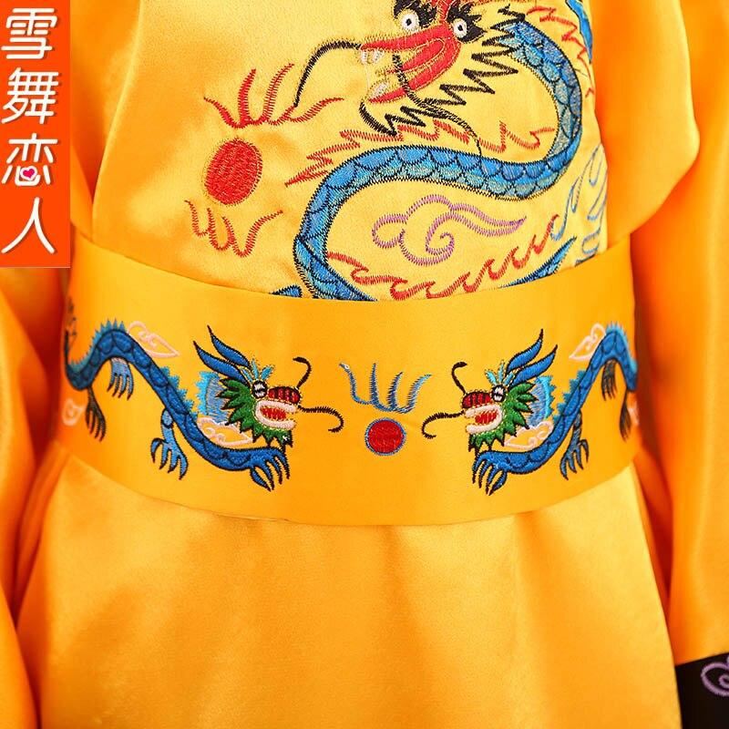 kanak-kanak Qing emperor Boy Costume pakaian cosplay peringkat set - Pakaian kebangsaan - Foto 4