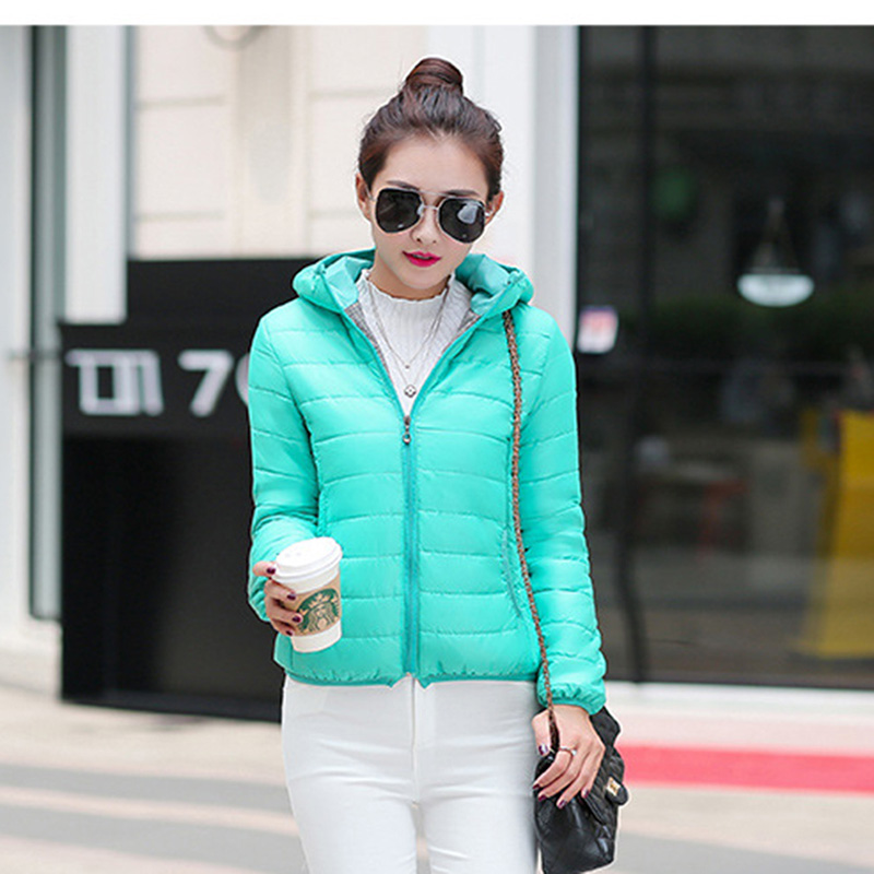 Plus Size Hooded Cotton-Padded Winter Jacket New Zipper Winter Coat Women Short   Parkas   Warm Slim Short Down Cotton Jacket