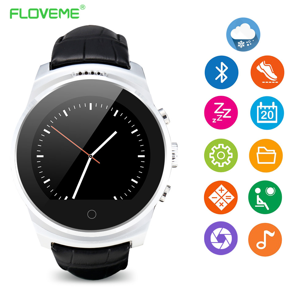 Floveme smart watch google play map browser bluetooth smart watch for androld smartwatch sleep for Watches google