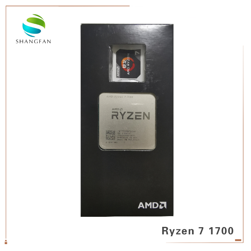 New AMD Ryzen 7 1700 R7 1700 3.0 GHz Eight-Core Sixteen-Thread CPU Processor 65W YD1700BBM88AE Socket AM4