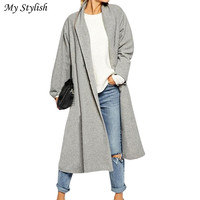 1PCS Womens Open Front Trench Coat Long Cloak Jackets Overcoat Waterfall Cardigan Stylish 5XL Nov 25