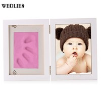 Kid Photo Frame DIY Hand Foot Print Cast Set Picture With Soft Clay Exquisite Decor For