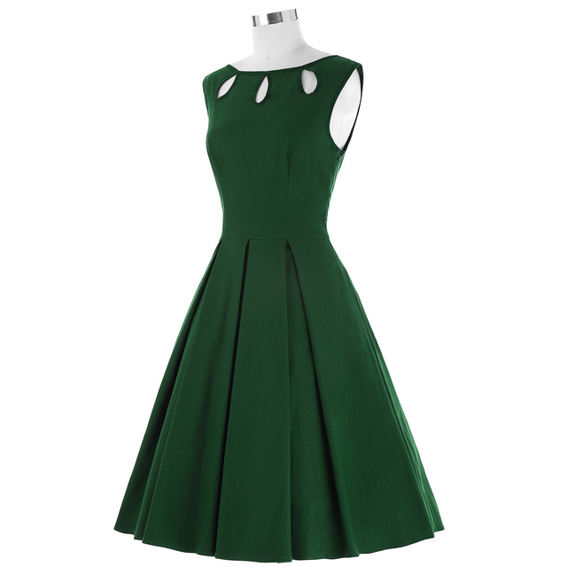 Plus Size Women Robe Vintage Dress Summer Sleeveless Clothing Short Casual 50s 60s Rockabilly Swing Party Dress Tunic Vestidos