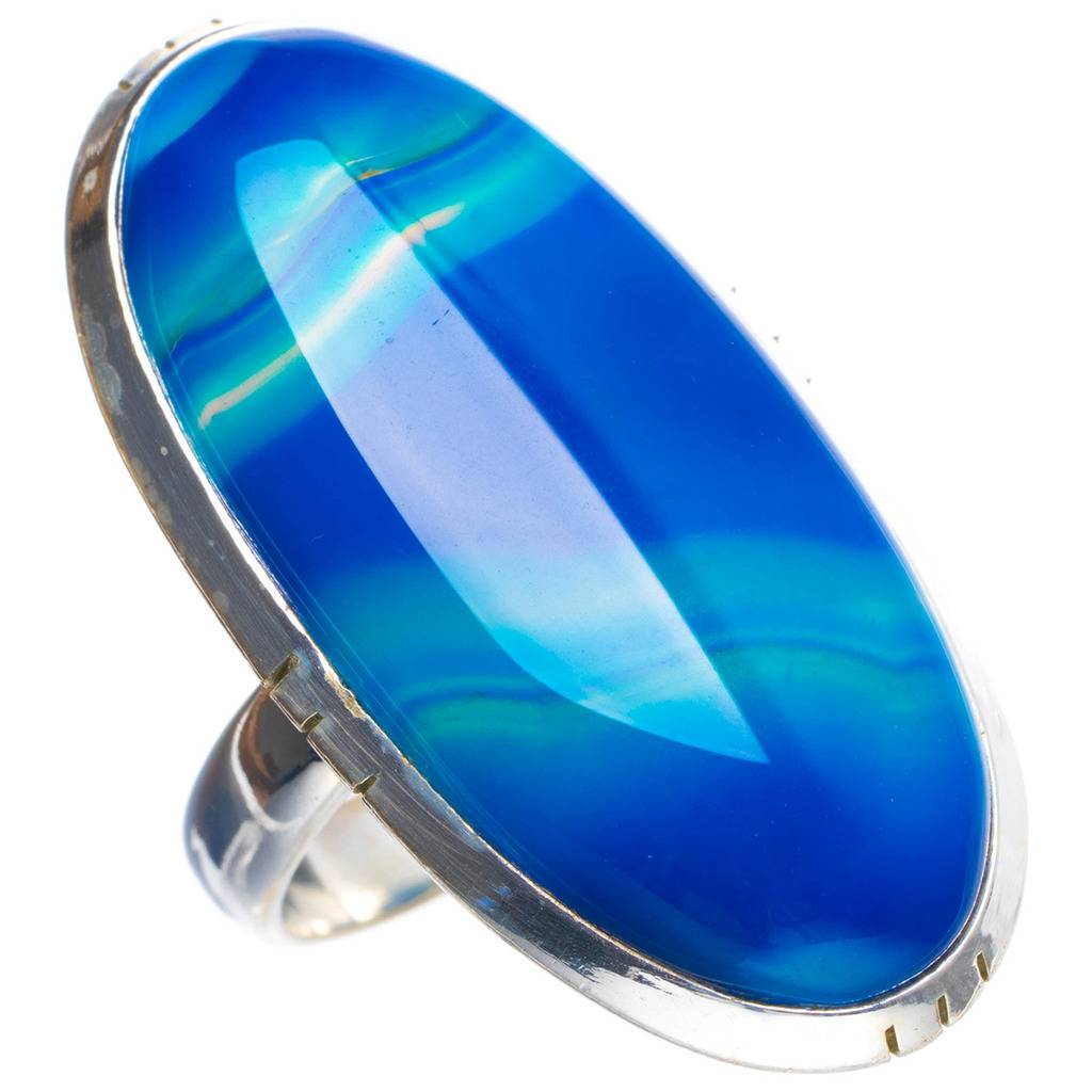 цена Natural Botswana Agate Handmade Unique 925 Sterling Silver Ring 5.25 Y4298