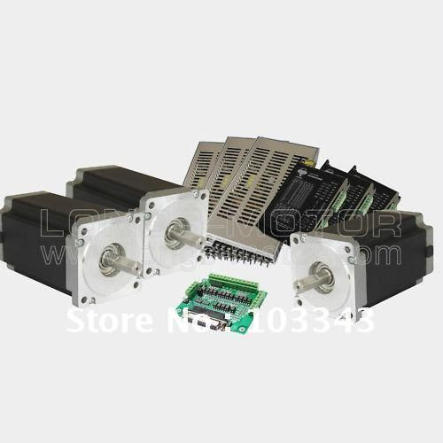 HOT SALES 3Axis Nema 34 Stepper Motor 1600oz-in 3.5A stepper motor driver DM860A,controller DB25  CNC Router or Mill Longs MotorHOT SALES 3Axis Nema 34 Stepper Motor 1600oz-in 3.5A stepper motor driver DM860A,controller DB25  CNC Router or Mill Longs Motor