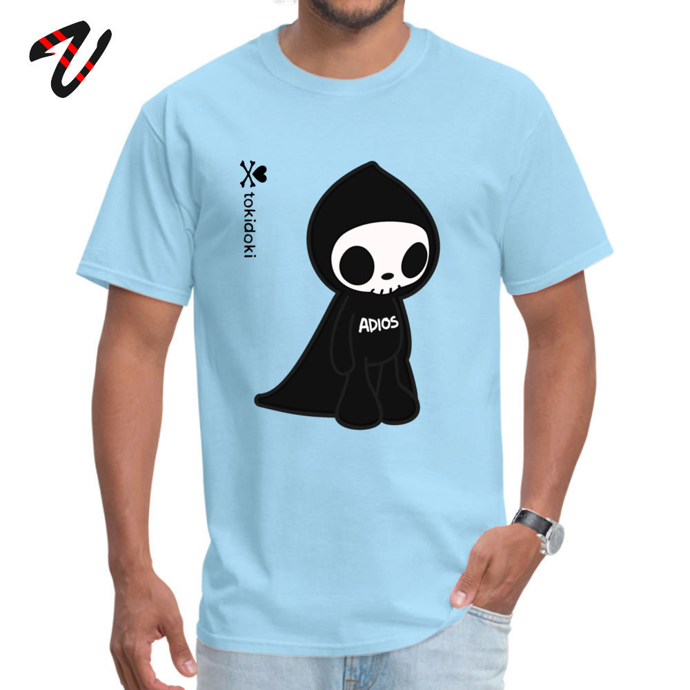 Leisure ADIOS TOKIDOKI Design Short Sleeve Summer Autumn Tees Funny Round Collar Pure Cotton Tops Tees Men T Shirts ADIOS TOKIDOKI 12768 light