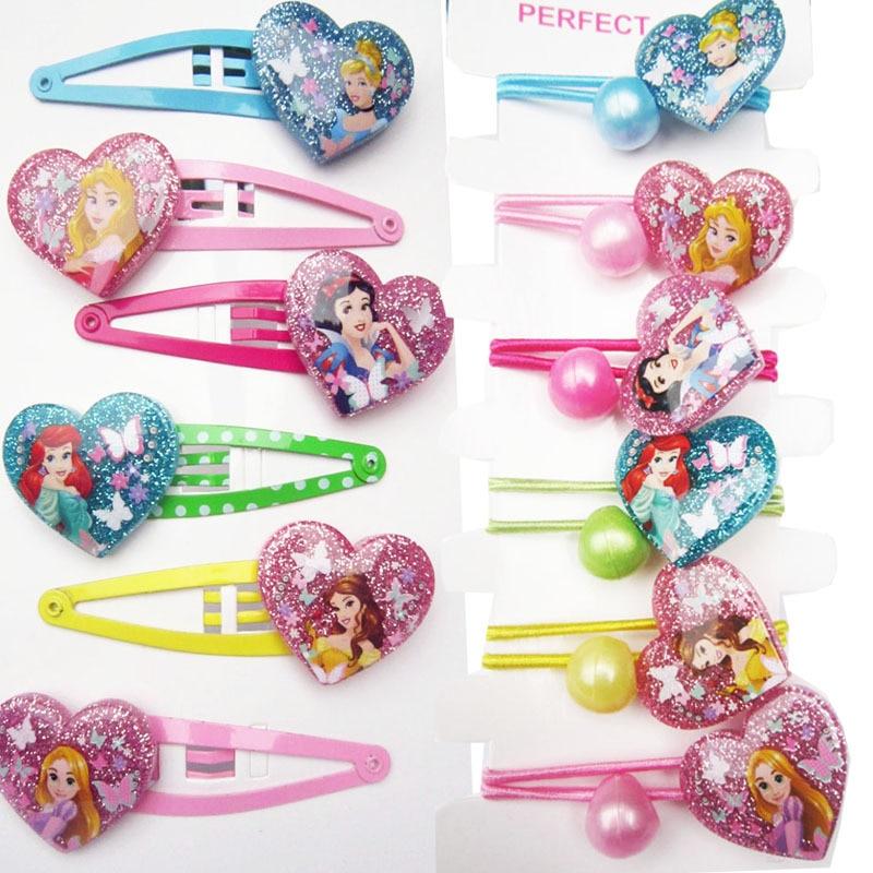 Fashion Children Headwear Elegant Lovely Princess Clips Gum Elastic Bands Hair Accessories Barrettes Scrunchies for Baby