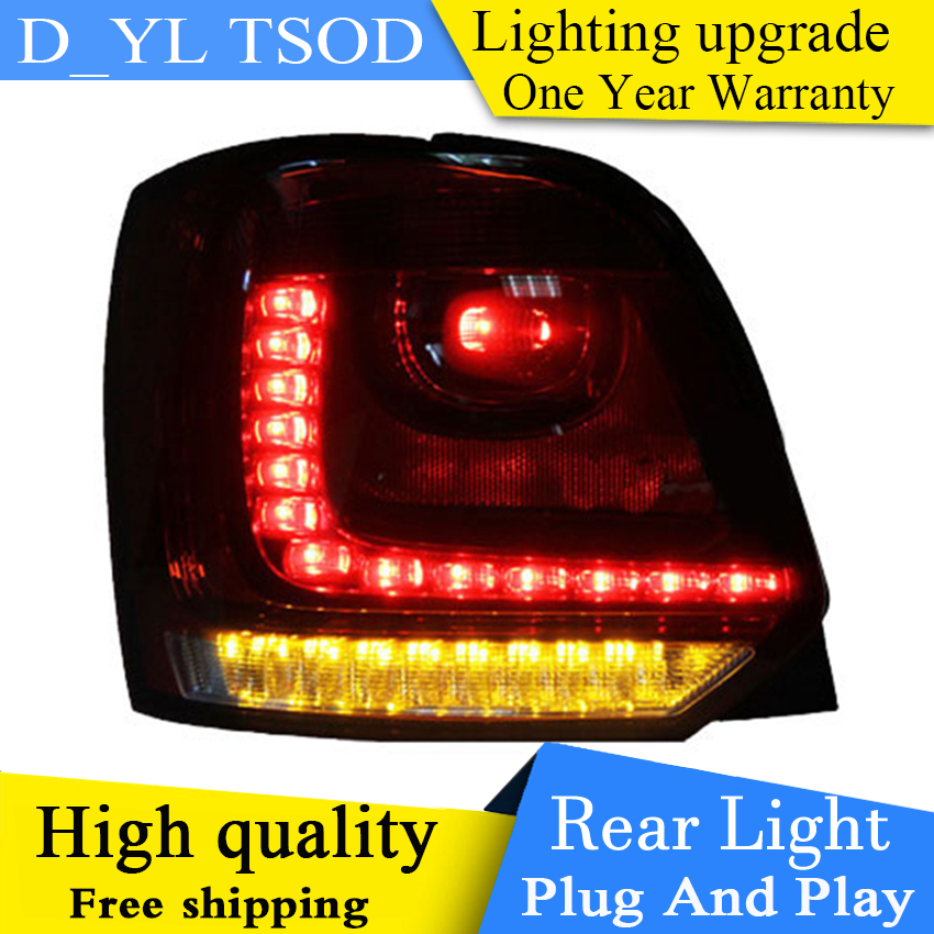 DY L Car Styling For vw POLO taillights 2006 2007 2015 2016 model For VW golf